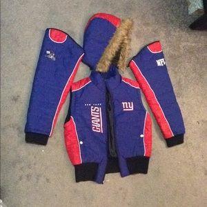 NFL NY Giants hooded Jacket / Vest 4 piece